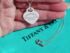 Tiffany & Co Return To Tiffany Sterling Silver Heart Tag Medium Charm Necklace