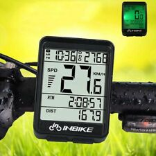 INBIKE Waterproof Wireless LCD Bike Computer Odometer Speedometer Bicycle NEW