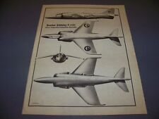 VINTAGE..HAWKER SIDDELEY P.1127..3-VIEWS ..RARE! (30A)