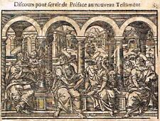 """Leclerc's Bible Figures - Woodcut - """"DISCUSSIONS ABOUT NEW TESTAMENT"""" - 1614"""