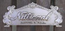 "TOP SIGN CASH REGISTER ""NATIONAL"" 313 SIZE  8 1/8"" C-C HOLES RED BRASS"