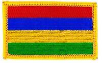 Toppe Toppa PATCH MAURITIUS 7x4,5cm Bandiera banderina ricamata termoadesivo
