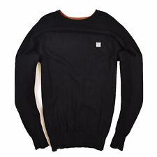 Bench Herren Pullover Sweater Strick Gr.L 100% Baumwolle Schwarz 89777