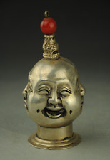 China's Tibet Tibetan silver snuff bottle the joys and sorrows all sides Buddha