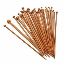 Set 34 Pcs Bamboo Knitting Needles 2 - 10mm Single Point 9 + in Knitting Needles