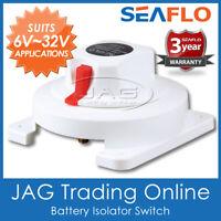 SEAFLO BATTERY SELECTOR KILL SWITCH 300A DUAL ISOLATOR - Boat/Marine/Caravan/4x4