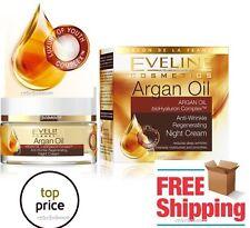 EVELINE ARGAN OIL Anti Wrinkle Rejuvenating Night Cream Hydration + soy proteins