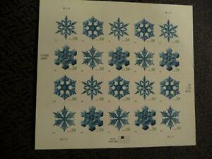 """USPS Postage Stamp Pin Christmas MIP 39 Cents 1/""""Snowflake"""