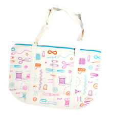 Generic Canvas Sewing Themed Weekend Tote