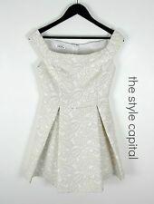 SLIDESHOW [ Size 8 10 ] NEW Beautiful White & Beige Baroque Dress Races Wedding