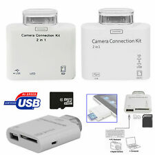 5 in 1 USB Camera Connection Kit Memory Card SD Reader For Apple iPhone/iPad UK