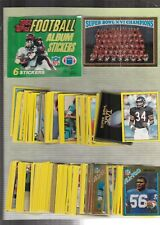 1982 Topps Football Sticker Set(288) Mint With Free Unused Album