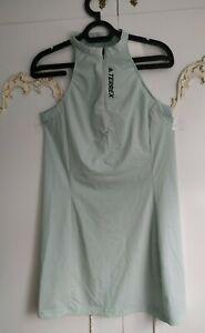 Adidas Ladies Terrex Lightweight Mint Green Tennis Walking Mini Dress New Size S