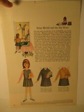 Vintage Betsy McCall & The Big News Paper Doll Page 1965 Issue Uncut Original