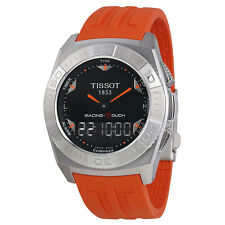 Tissot Racing-Touch Black Dial Black Chronograph Orange Rubber Strap Mens Watch