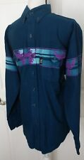 Brooks & Dunn Panhandle Slim Mens Long Sleeve Shirt Sz 16-34 Western Birds Blue