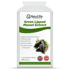 Green Lipped Mussel Extract - 500mg - 240 Capsules