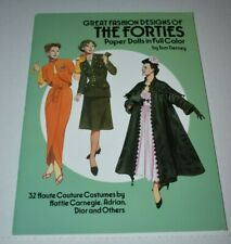 2014 fashion designs of the forties Paper Dolls Book - Tom Tierney Dover Uncut