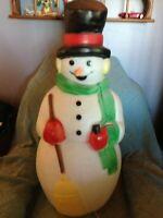 "VINTAGE CHRISTMAS 1990 EMPIRE 40"" SNOWMAN BLOW MOLD W/LIGHT CORD"