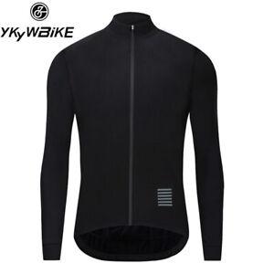 YKYWBIKE Mens Cycling Jacket WINTER JACKET Thermal Fleece Jersey Long Sleeve