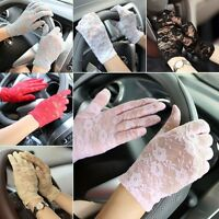 Women's Gloves Party Formal Short Lace Driving Wedding Summer Sunscreen Bridal