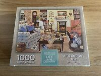 WH Smith Jigsaw Puzzle 1000 Pieces. Afternoon Tea By Tracy Hall. NEW/SEALED.