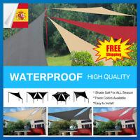 Toldo de Vela Triangulo para Jardín y Exterior Repelente al Agua Protección UV