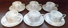 Rosenthal China Orchid Blossom Set of 6 Cups & Saucers