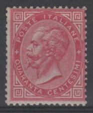 "ITALIE STAMP TIMBRE YVERT 19 "" VICTOR EMMANUEL 40c ROSE "" NEUF x TB RARE   N881"