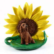 Irish Setter Sunflower Figurine
