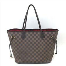 LOUIS VUITTON N51106 Damier Neverfull GM Ebene Tote Hand Shoulder Bag Used