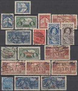 POLEN Polska 1933/36 eg Stamp Exhibition Thorn Europe Flight.. ex Mi 279-314 o/*