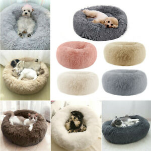 Dog Cat Pet Calming Beds Large Mat Comfy Puppy Washable Fluffy Cushion Plush Bed