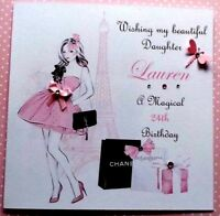 PERSONALISED HANDMADE BIRTHDAY CARD 18TH 21ST 40th DAUGHTER SISTER GRANDDAUGHTER
