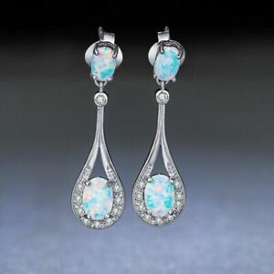 Noble Elegant Woman Silver Filled Mystic Topaz Wedding Party Earring best Gift