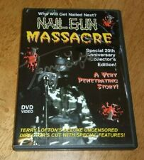 Nail Gun Massacre (DVD) Terry Lofton Signed Limited Edition OOP rare NTSC