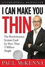 I Can Make You Thin Paul McKenna HC Book/CD Hypnosis Weight Loss Diet Fitness