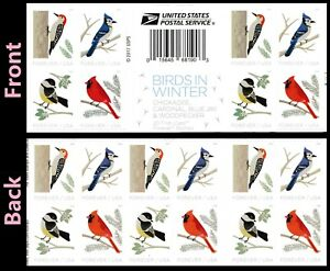 US 5317-5320 5320a Birds in Winter forever cross gutter booklet 20 MNH 2018