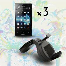 Car Windshield Mount Holder +Screen Protector Cover for Sony Xperia Acro S LT26w