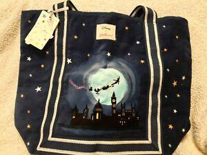 BNWT Cath Kidston Disney Peter Pan and Tinker Bell Velvet Tote Bag