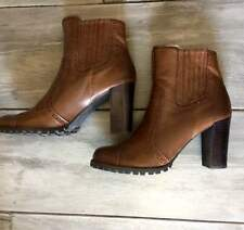 "Franco Sarto Womens Brown/Tan Ankle Bootie size 8.5 M 3"" Heal ""Eliot"""
