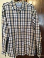 NICE CASUAL Eddie Bauer Men's Size XL Vintage Wash Shirt Blue/Red Plaid L/S