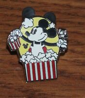 Genuine Disney Pie Eye Mickey Mouse with Popcorn Collectible Trading Pin *READ*