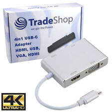 4in1 USB-C 4K Adapter HDMI DVI VGA USB3 OTG für MSI GT83 WS63 Nokia N1 Tablet