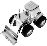 Personalised Engraved Silver Digger Money Box - Christening Gift - Free Delivery