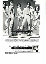 DAVID JOHANSEN (New York Dolls) Japanese magazine ADVERT/CLIPPING 10x7 inches