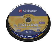 DVD+RW Matt Silver 10-disc Spindle 43488