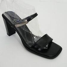 3da341194b6f Vintage Calvin Klein Womens Heel Black Slide Chunky Heel Size 7 M