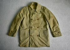 WW2 US Army Wool Lined Mackinaw Officers Jeep Coat Jacket 40s Vtg Military XS/S