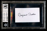Margaret Thatcher signed autograph auto 1.5x2 cut Prime Minister of the UK BAS